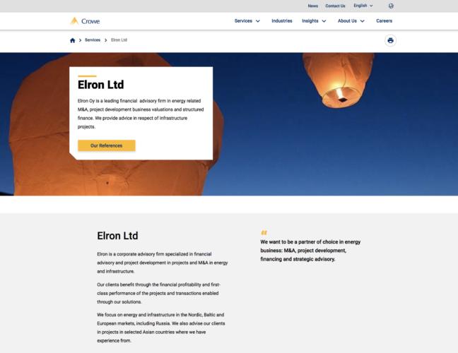 Elron-sivusto